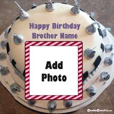 photo frame birthday cake for brother