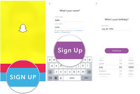 sign up and get started with snapchat