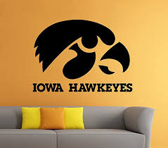 Amazon Com Iowa Hawkeyes Wall Decal Vinyl Sticker Ncaa College Football Home Interior Removable Decor 22 High X 33 Wide Home Improvement