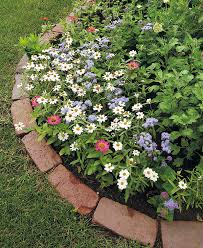 brick edging in your garden
