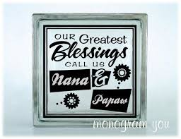 Glass Block Vinyl Decal Our Greatest Blessings Call Us Nana Pawpaw On Etsy 5 95 Glass Blocks Glass Blocks Vinyl Decals Glass