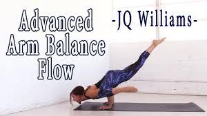 advanced arm balance yoga flow with jq