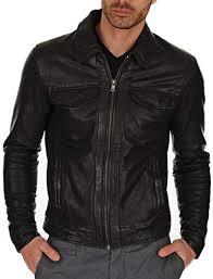 club biker genuine leather jacket
