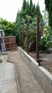Ok Fence Here We Come 8ft Treated Posts In Concrete Concrete Landscape Fence