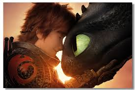Custom Canvas Wall Mural Hiccup Toothless Poster Httyd Film Wall Sticker How To Train Your Dragon Wallpaper Bedroom Decor 0861 Wall Stickers Aliexpress