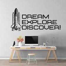 Dream Explore Discover Space Wall Decor For Space Themed Room Planets Wall Decal
