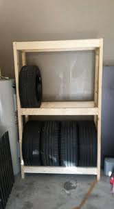 Diy Budget Tire Rack Or Shelves For Your Garage 5 Steps Instructables