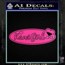 Kawi Girl Decal Sticker Ovn A1 Decals