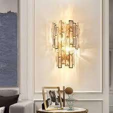 crystal wall sconce light for villas
