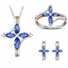 cross necklace crystal christia