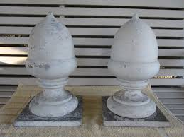Antique Gate Post Finials Toppers Caps Acorn Shape Architectural Salvage 1849839669