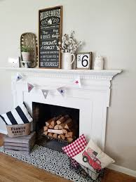 a farmhouse fireplace makeover using