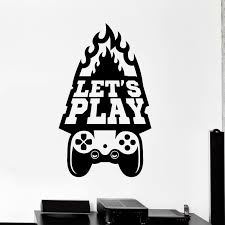 Game Room Handle Sticker Gamer Decal Gaming Posters Gamer Vinyl Wall Decals Parede Decor Mural Video Game Gaming Wall Art Video Game Wall Art Vinyl Wall Decals