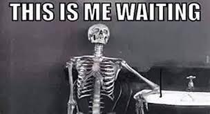 waiting skeleton memes