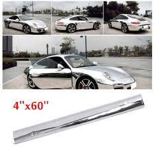 Bright Silver Sticker 4 X60 Decal Car Tint Wrap Sheet Film Chrome Gloss Diy Wish