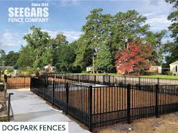Dog Park Fences By Seegars Fence Company In 2020 Fence Aluminum Fence Fencing Companies