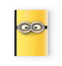 notebook minion 3d white bags