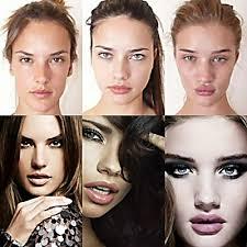 secret models before and after makeup