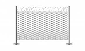 Premium Vector Metal Wire Fence Steel Gates Mesh Barbed Wire
