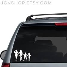 Custom Naruto Inspired Family Car Decal Adults Are 4 Inches Tall Children Are 3 Inches Tall Baby Pets Are 2 Inches Tall Family Car Decals Family Car Car Decals