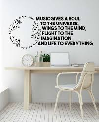 Music Gives A Soul To The Universe Wings To The Mind Flight Etsy