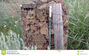 Lava Rock Supports Fence And Post Stock Photo Image Of Miles Reinforced 97320918