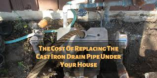 replacing the cast iron drain pipe