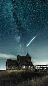 خلفية ايفون سماء ليل مربع