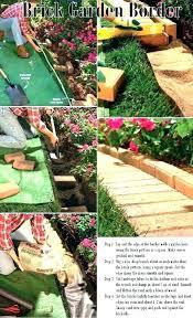 brick flower bed borders novopelo info