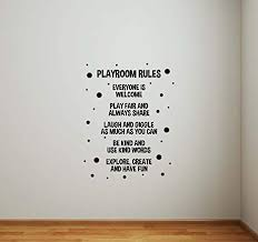 Amazon Com Playroom Rules Wall Decal Poster Children Room Sign Nursery Quotes Inspirational Christmas Idea Vinyl Sticker Play Game Room Home Child Baby Kids Bedroom Decor Wall Art Mural Print 830 Arts Crafts