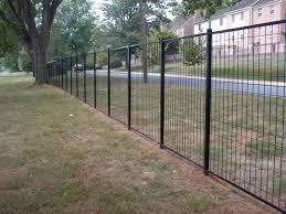 72 High 2 Gauge In Black Fence Design Wire Fence Backyard Fences