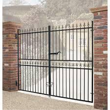 Corfe Metal Estate Driveway Gate 1778mm High Wrought Iron Style Burbage Iron Craft
