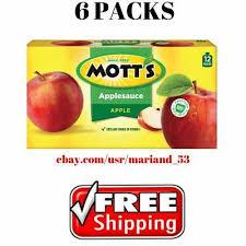6 pack mott s applesauce 3 2 oz 12