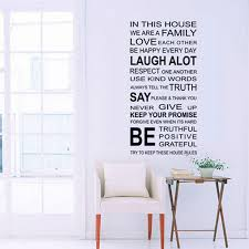 English Proverbs Wall Sticker House Rules Decal Removable Decor Self Expressions Decals More