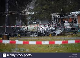 Bad Urach Germany 27th Nov 2018 The Remains Of A Burnt Down Caravan Stand On A Camping Site A Body Was Found In The Trailer That Burned Tuesday Night Credit Sebastian Gollnow Dpa Alamy