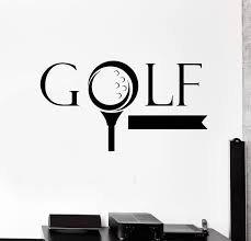 Wall Sticker Vinyl Decal Golf Word Golfer Sports Game Nice Decor Fans Wallstickers4you