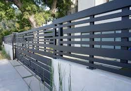 Modern Fence And Gate Clear Redwood And Steel Combination Los Angeles Ca Modern Fence Design Fence Design Modern Fence