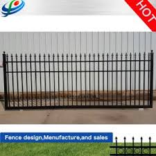 China Top Quality Design Metal Fence Driveway Gate For Sell China Fence Gate And Steel Fence Gate Price