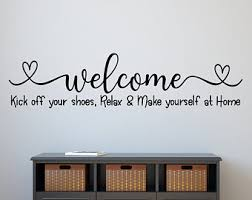 Welcome Wall Decal Etsy
