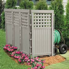 Lattice Privacy Screen Enclosure 4 Resin Fencing Panels Outdoor Trash Bin Fence For Sale Online