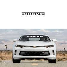 New Chevy 2 In 1 Car Truck Front Back Windshield Window Decal Stick Emblem Ebay
