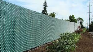 Vinyl Slated Chain Link Buetts Fence