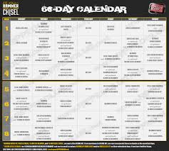 hammer chisel workout schedule free