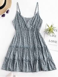fl print surplice cami dress