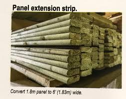 Panel Extension Strips 2 Elite Fencing Gates