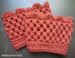 Ravelry: Crochet boot cuffs pattern by Hilary Renshaw