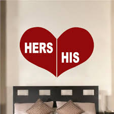 His Her Wall Art Decal Trendy Wall Designs
