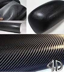 Amazon Com 4d Black Carbon Fiber Vinyl Wrap Sticker Air Realease Anti Wrinkle 10 Ft X 5 Ft Home Kitchen