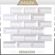 china clear white glass mosaic tile