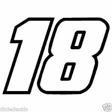 4 Kyle Busch Number 18 Window Decals Vinyl Stickers 2 Color Joe Gibbs Racing Ebay